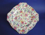 "Grimwades Royal Winton 'Old Cottage Chintz' Ascot Shape 8"" Cake Plate c1936"
